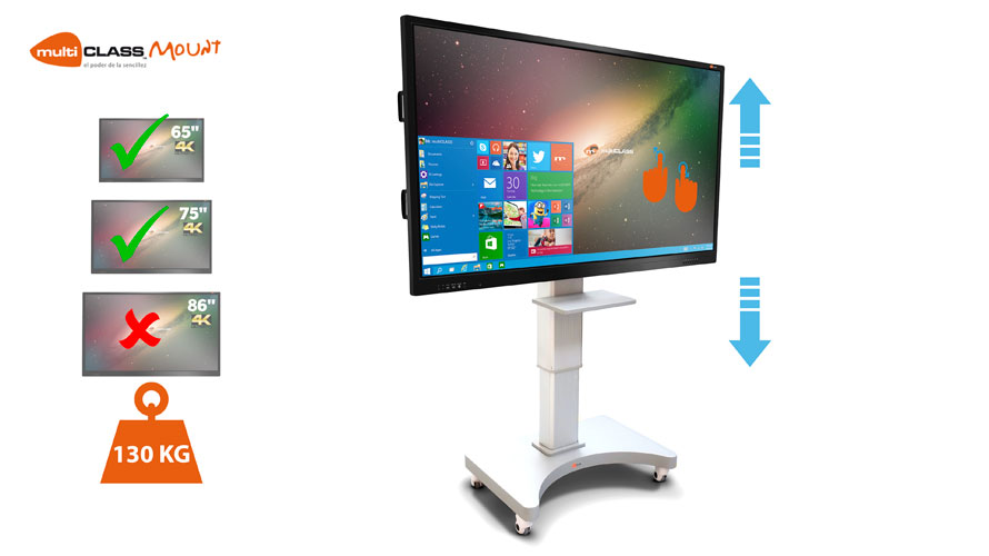 ADJUSTABLE MOUNT Interactive Displays Mounts multiCLASS Mount
